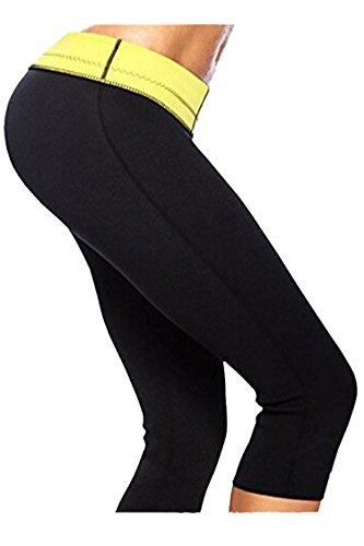 COCOLEGGINGS Women's Active Anti Cellulite Capri Leggings Weight Loss Shorts S