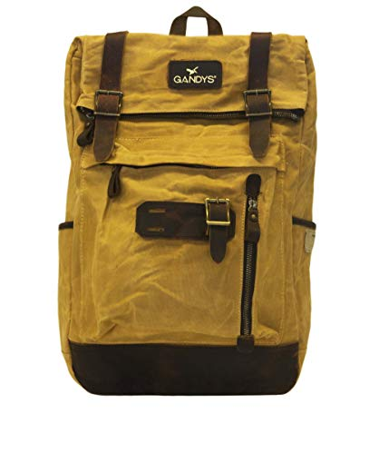 Gandys Men's Backpack Waxed Bali Tan rrdqSOxF