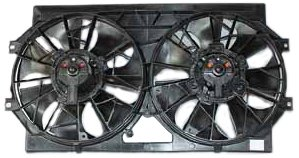 TYC 620310 Dodge/Plymouth/Chrysler Replacement Radiator/Condenser Cooling Fan Assembly