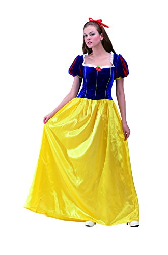 ADULT WOMEN Costume Princess Snow White Floor length dress (Large, (Snow White Costume For Adults)