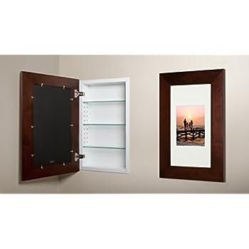 Amazon Com 14x24 Espresso Concealed Medicine Cabinet