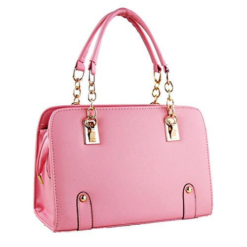 à tout Main Bag Sac Hee Messenger Rose Femme Pecher fourre Grand Epaule 7xOWTtA