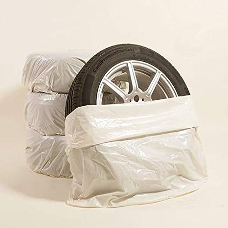 300 Reifentüten Weiß 40µ 100 X 100 Cm Bis 22 Zoll Xxl Reifensack Reifentaschen Extrastark Reifenschutz Kein Schrott Auto
