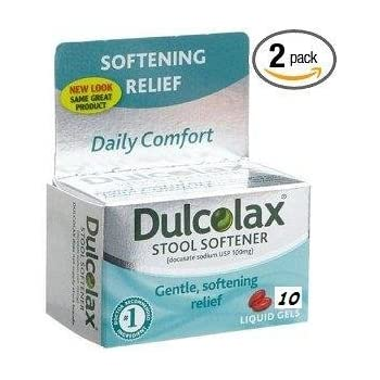 Amazon Com Dulcolax Stool Softener 10 Count Liquid Gels