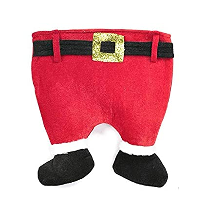329ac8c81 Image Unavailable. Image not available for. Color  Christmas Hats - Funny  Holiday Hat Novelty Red Pants Cap Santa Claus Legs Snowman - Black