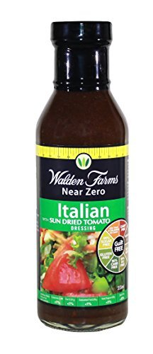 Walden Farms 355ml Italian with Sun Dried Tomatoes Salad Dressing by Walden Farms