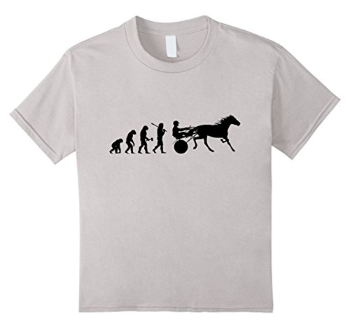 Kids Evolution of Harness Racing Sulky Driver Horse Race T-Shirt 10 (Sulky Race)