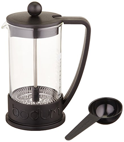 Bodum 10948-01BUS  Brazil French Press 0.35-Liter 3-Cup Coffee Maker, 12-Ounce, Black