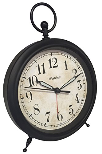 Westclox 0 Vintage Look Top Ring Decor Alarm Clock, Multicolored
