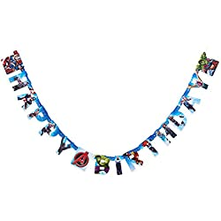American Greetings Boys Avengers Epic Birthday Party Banner