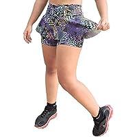 Short Saia Rodado Fitness Estampado em Suplex para Academia - DB107