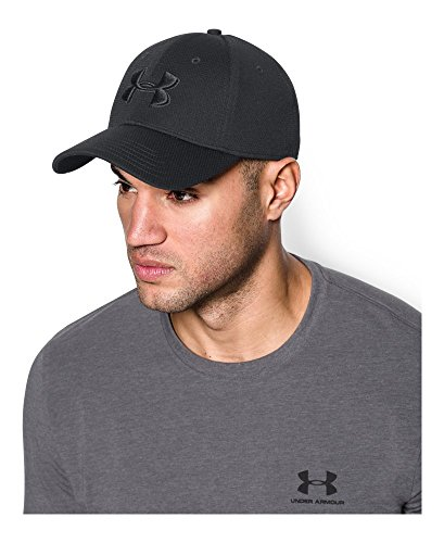 black on black under armour hat
