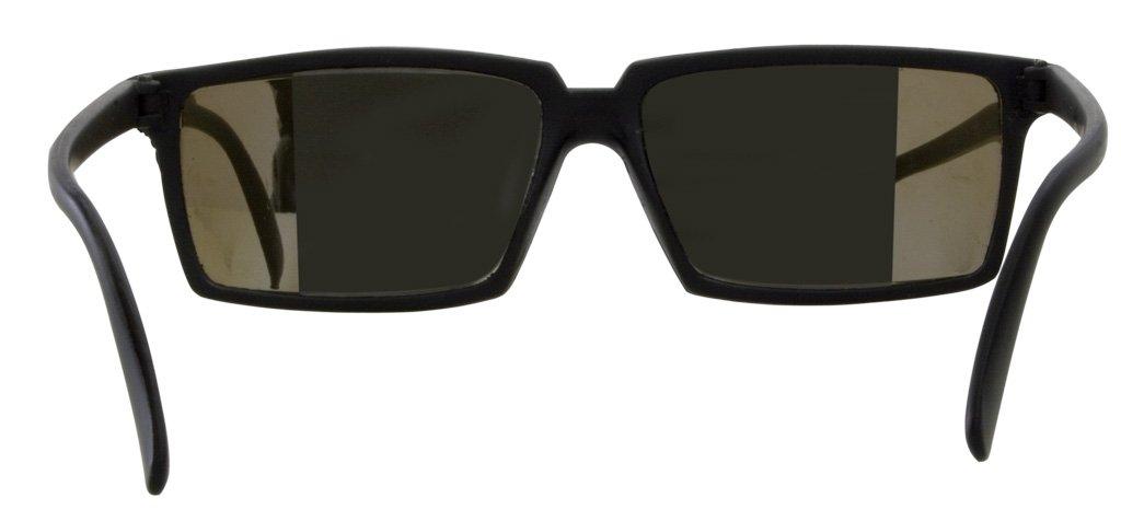 Agenten-Sonnenbrille nach vorne schauen und sehen was hinten ...
