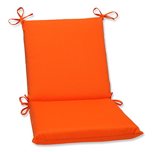Pillow Perfect Indoor/Outdoor Sundeck Squared Chair Cushion, Orange