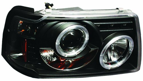 IPCW CWS-507B2 Ford Ranger Black Projector Head Lamp with Rings - (Ford Ranger Ipcw Headlights)