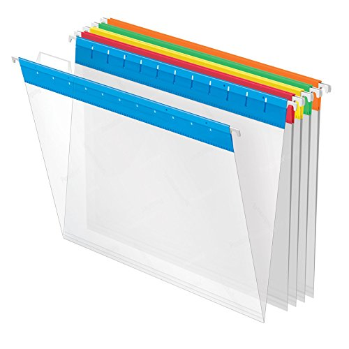 Pendaflex EasyView Hanging Folders, Letter Size, Assorted Colors, 25 per Box (55708)