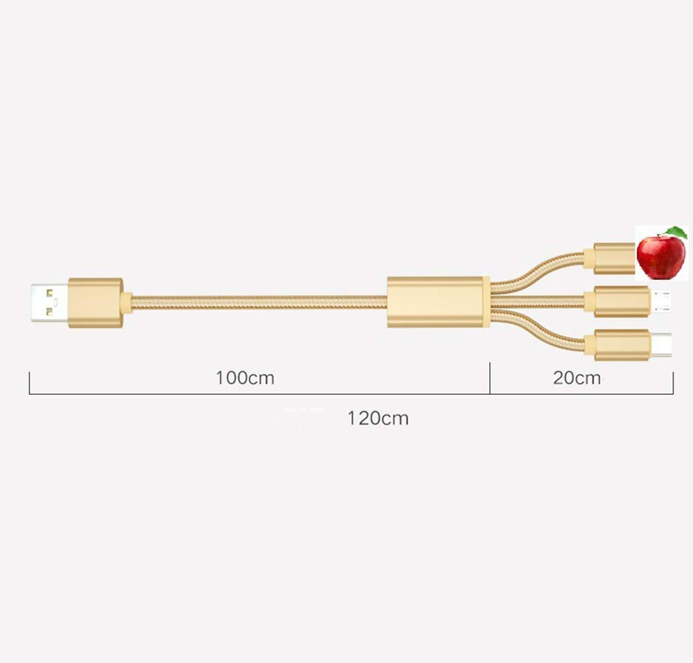 Two ,C Sophia Three-in-One Charging Cable Three-in-One Data Cable C-Type Car Android 5A Multi-Head Charger Multi-Function Fast 1.2M