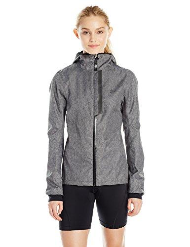 Craft Women's Ride Rain Jacket, Dark Grey Melange, Medium