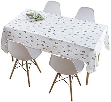 Zheng Hui Shop Mantel de algodón nórdico Impermeable y Resistente al Aceite Sala de Estar Mesa de café Mantel Blanco Fresco (Size : 130 * 180cm): Amazon.es: Hogar
