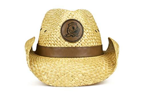 NCAA Oregon Ducks Unisex NCAA Western Straw Cowboy Hat, Wide Brim Sun Hatncaa Western Straw Cowboy Hat, Wide Brim Sun Hat | Officially Licensed, Natural, One Size