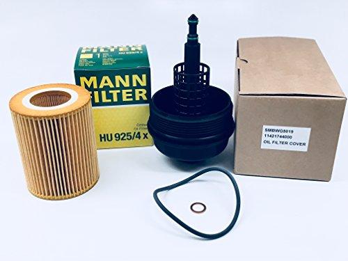APSG OEM MANN Oil Filter + HOUSING Lubrication System Cover Cap For : BMW ()
