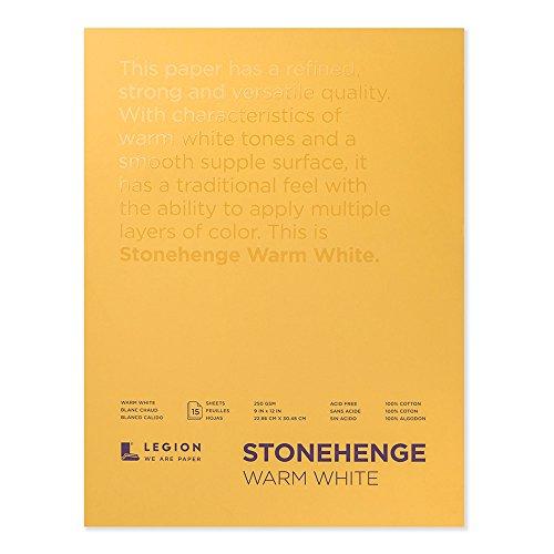 Legion Stonehenge Pad (L21-STP250WW912), 15 Sheets, 9 By 12...