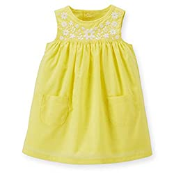 Carter's Poplin Embroidered Dress - Yellow (3 Months)