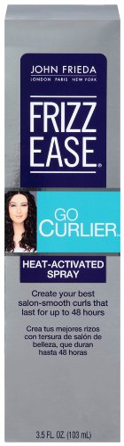 John Frieda Frizz Ease Go Curlier Heat-Activated Spray, 3.5 Ounce