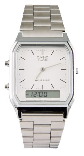 Casio Gents Watches - Casio Collection AQ-230A-7DMQYES Mens Watch, Off-White