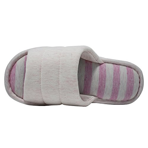 Couple Pink House Toe ONCAI Cotton Slipper For Linen And Terry Slipper Open Women Men ZxEnOnwqR