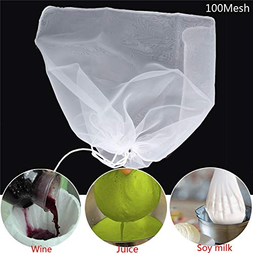 2Pcs 66x55cm Extra Large Home Brewing Making Beer Wine Bag Corded Filter House Home Wine Beer Making Bar Tool