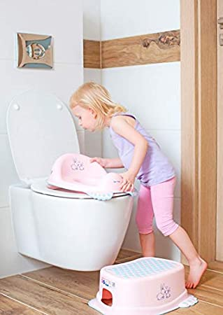 TOILET TRAINING SEAT TODDLER BOY GIRL POTTY SAFE ANTI-SLIP TRAINER Bunny Pink