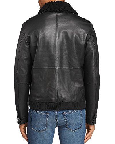 Hugo Boss Boss Leather Shearling Collar Bomber Jacket (44R)