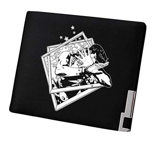 53f025a3f7 Anime Uomo Nero Portafoglio Pelle Sottile Portamonete Borsellino Sintetica  Piccolo Adventure Wallet 14 1 Bizarre Jojo ...