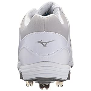 Mizuno Women's Swift 5 Fastpitch Cleat Softball Shoe, White/White, 10 B US
