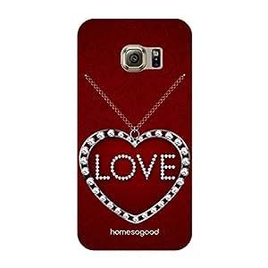 HomeSoGood Love Pendant Red 3D Mobile Case For Samsung S6 Edge ( Back Cover)