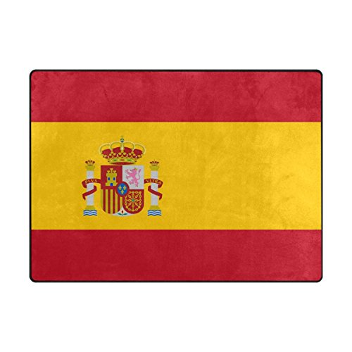 TSWEETHOME Doormat Area Rugs Welcome Mats with Spain Flag for Chair Mat Floor Mat (63 x 48 in & 80 x 58 in) by TSWEETHOME
