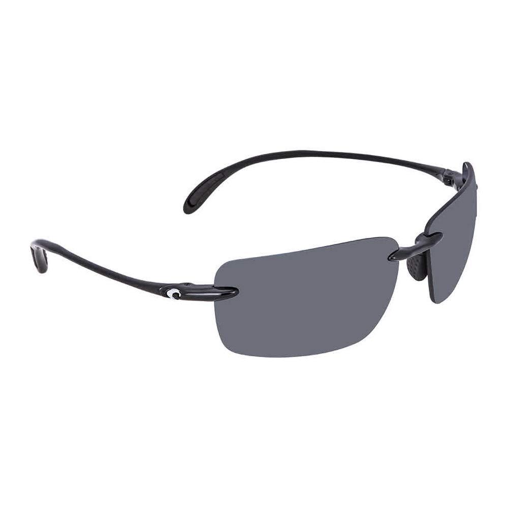 Costa Del Mar Gulf Shore Sunglasses, Shiny Black/Gray 580Plastic by Costa Del Mar