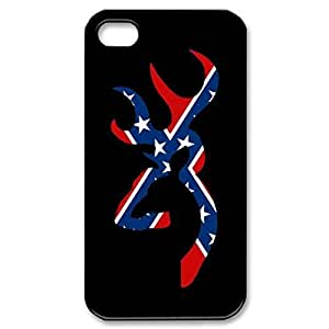 TATATO Browning Deer Rebel Hard Case Back For iPhone 4 & iphone 4s by ruishername