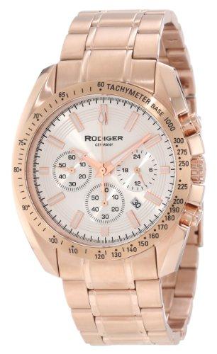 Rudiger Men's R1000-09-001 Dresden Rose Gold IP Silver Lu...