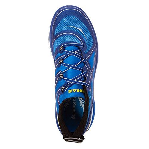 Hoka One One Heren Constant Lopende Sneaker Schoen True Blue / Empire Yellow
