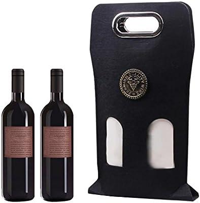Amazon.com: Bolsas, 2-Bottle Rojo Vino Bolsa de regalo ...