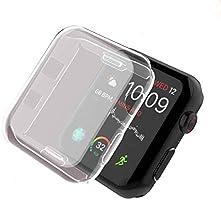 Smilelane Apple Watch Series 3 42mm ケース, 柔らかい TPU ウオッチ保護ケース超薄型カバー新しいアップルウォッチシリーズ 3 ケース 42mm (2枚)