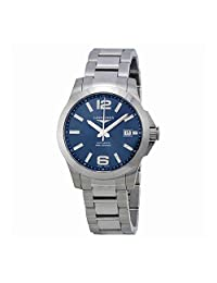 Longines Conquest Blue Dial Automatic Stainless Steel Mens Watch L36764996