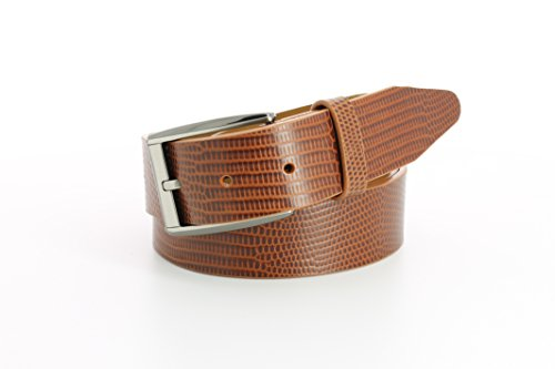 [Remo Tulliani Men's 35mm Wide Ruben Italian Calfskin Leather Dress Belt] (Tulliani Calfskin Belt)