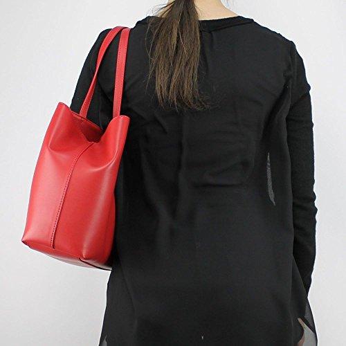 o a Rosso donna Love mano JC4067PP15LH NAPPA Borsa articolo a spalla PU 0500 Moschino RwUXn1qC