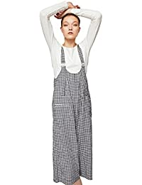Women's Gingham Check Jumpsuit