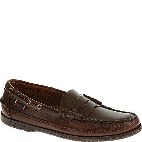 Zapatos Sloop Penny Loafers para hombres Zapatos casuales para barcos Cuero marr¨®n, 8 N