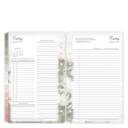 Compact Blooms Daily Ring-Bound Planner - Apr 2019 - Mar 2020