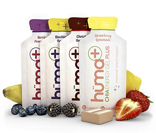 Huma Plus - Chia Energy Gel, Variety, 24 Gels - Natural Electrolyte Enhanced Energy - Gel 24
